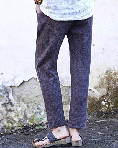 Droites Taille Pantalon Médias Été Hipsteres Textile Purée Kaffeebraun Solides Couleur Trendigen Longues Mode Femmes 8IPzSRqw