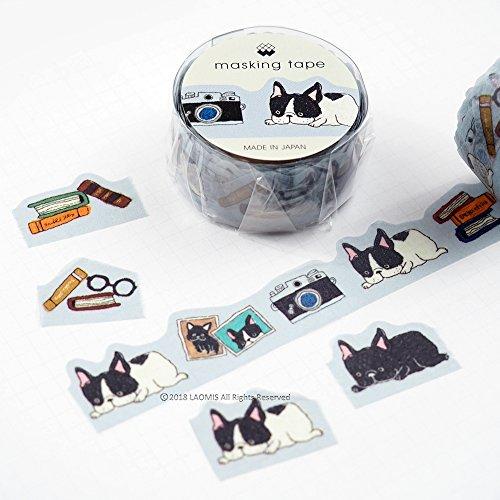 (Mind Wave Japanese Washi Masking Paper Die-Cut Tape / French Bulldog [ 93613 ])