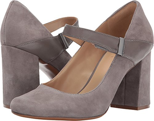 Dress Pump Modern Suede Women's Naturalizer Leather Grey Reva 4qxw1wtE