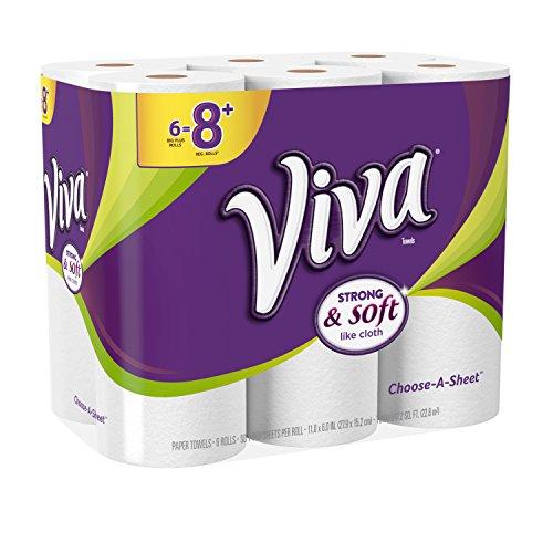 Viva Choose-A-Sheet Paper Towels, White, Big Plus Roll, 24 Rolls, 90 Count