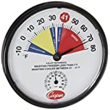 Cooper-Atkins 212-159-8 Bi-Metals HACCP Cooler/Freezer Thermometer, 10 to 80 Degrees F Temperature Range