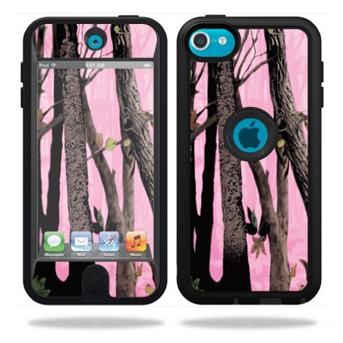 MightySkins Skin Compatible with OtterBox Defender Apple iPod Touch 5G 5th Generation Case Pink Tree Camo (Box Ipod 5 Case Camo Otter)