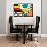 Tokyo Charcoal Grey Rectangle Folding Dining Table