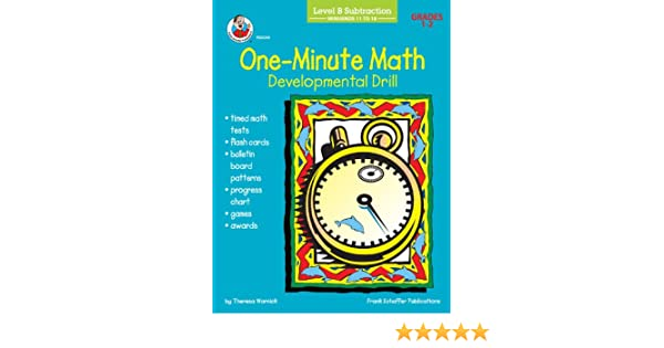 One-Minute Math Developmental Drill, Level B: Subtraction, Minuends ...