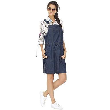 4bdf49497e MADO ET LES AUTRES Denim Overalls Dress PE19 Women at Amazon Women s ...