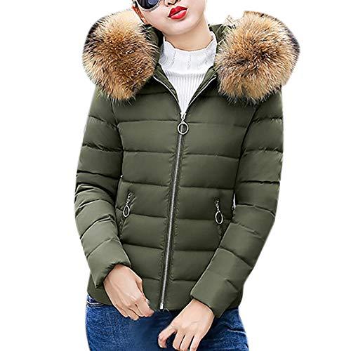 Blend Hooded Toggle Wool (Realdo Womens Hoodie Jacket Clearance Sale, Winter Warm Faux Fur Hooded Slim Short Coat(X-Large,Army Green))