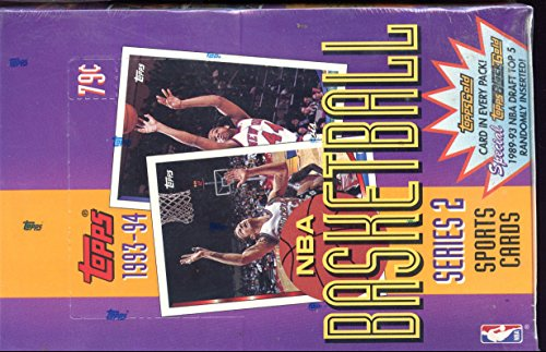 1993-94 Topps Set Basketball Card Wax Pack Box Series 2 Two (Topps Basketball Series)