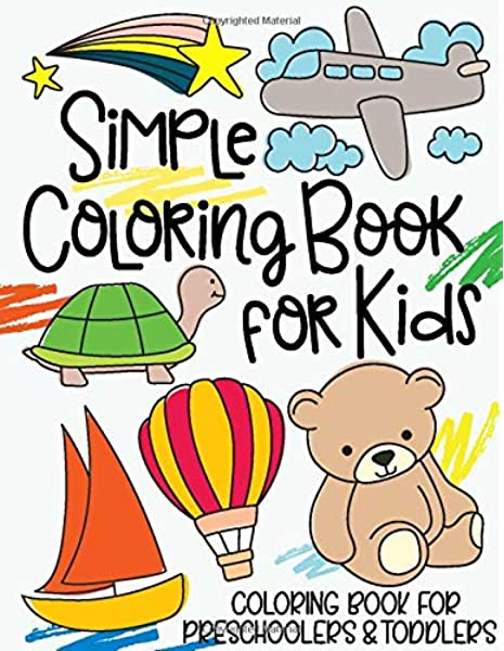 - Simple Coloring Book For Kids: Coloring Book For Preschoolers & Toddlers:  Design Co., Cardien: 9781720229551: Amazon.com: Books