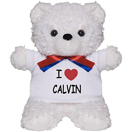 CafePress - I Heart CALVIN - Teddy Bear, Plush Stuffed Animal