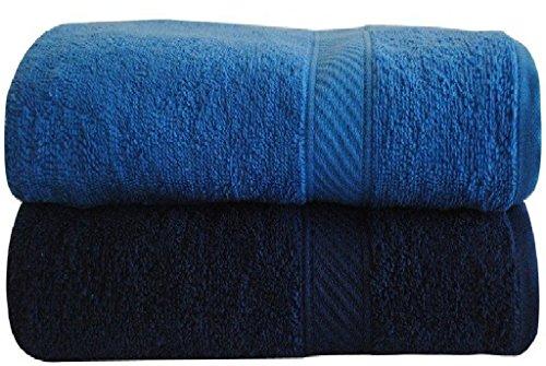 Trident 400 GSM 2 Pcs Medium Bath Towels – Blue…