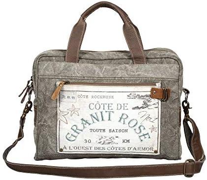 Myra Bag Granit Rose Upcycled Canvas Messenger Bag S-1363