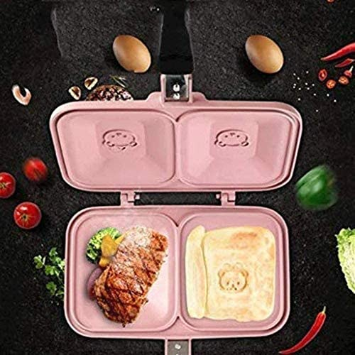 TCNBV Double Side Pan, double face anti-adhérente revêtement en céramique Retourner Poêle Pancake Maker Ménage Batterie de cuisine