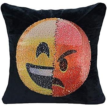 Amazon.com: Emoji funda de almohada guigu doble cara ...