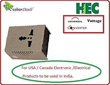 Voltage convertor (220 v to 110 v ) for USA / Canada products rated upto  1600 watts to be used in India