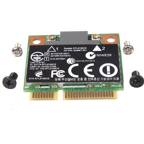 Genuine HP Pavilion Realtek RTL8188CE Half Hight Mini PCI-Express Wireless N WiFi Card 802.11 b/g/n 640926-001 ()