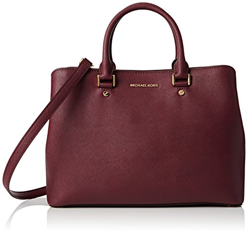 MICHAEL KORS Borsa Plum Lg Satchel Savannah Leather Art 30S6GS7S3L 97 633 A16