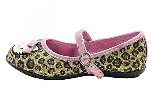 Hello Kitty Toddler Girls Fashion Mary Janes HK Lola Shoes FB5361 Leopard msxMJheu0c