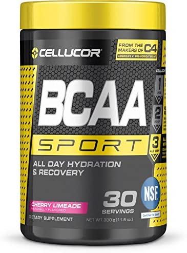 Cellucor BCAA Sport, BCAA Powder Sports Drink for Hydration Recovery, Cherry Limeade, 30 Servings