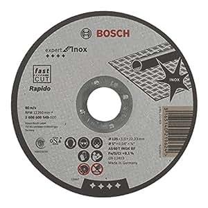 Bosch 2 608 600 549 - Disco de corte recto Expert for Inox - Rapido - AS 60 T INOX BF, 125 mm, 1,0 mm (pack de 1)