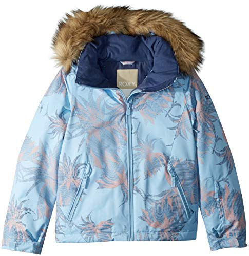 - Roxy Little American Pie Snow Jacket, Powder Blue_SWELL Flowers Girl, 8/S