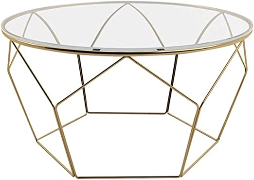 Amazon Com Y Leah Nordic Style Coffee Table Gold Hexagonal Fine