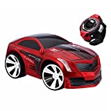 PowerLead Smart Voice Control RC Car Creative Voice-activated RC Vehicles Scratch Resistance Intelligent Commanded by Watch Voice Remote Control Car-Red