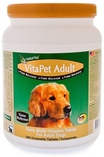 NaturVet VitaPet Adult Daily Multi-Vitamin — 365 Chewable Tablets, My Pet Supplies