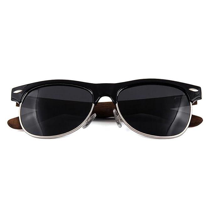 Deportes Pies De Madera Gafas De Sol Polarizadas Moda Retro Gafas 6 Colores, A-L: Amazon.es: Ropa y accesorios