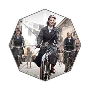 RainbowRain Masterpiece Downton Abbey Season 6 Resistant Anti-UV Auto Compact Rainy Sunny Custom Foldable Umbrella 06