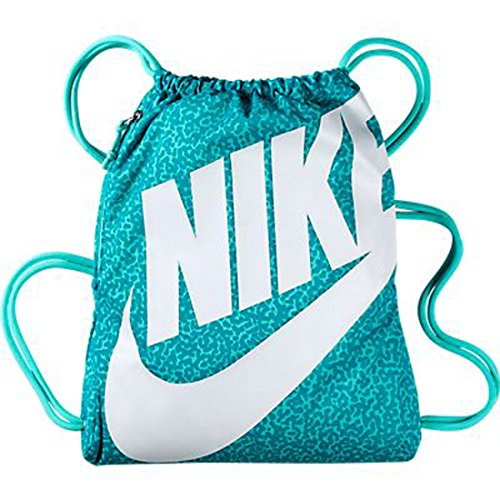 8446d3a4660aa Amazon.com  Nike New Heritage Gymsack Bleached Turquoise Bleached  Turquoise White  Shoes
