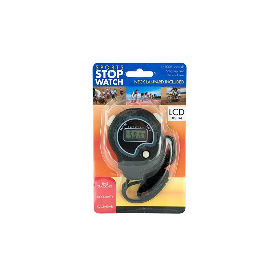 bulk buys Sport Stopwatch with Neck Cord and Battery