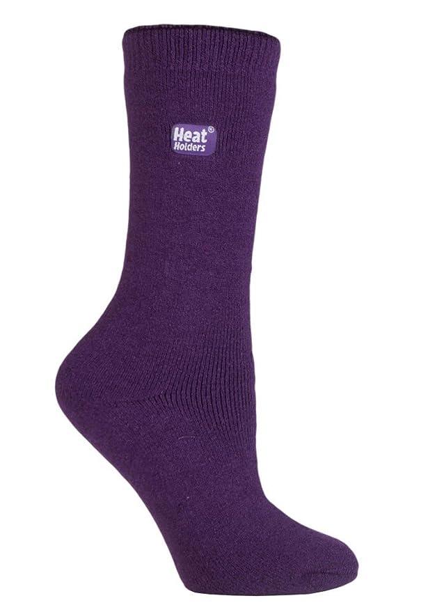 HEAT HOLDERS - Mujer invierno calientes termicos finos calcetines (37-42 Eur, Black): Amazon.es: Ropa y accesorios