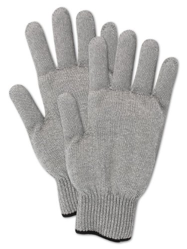 Magid CutMaster SP1036G Spectra Glove, Medium Weight, Spectra/Fiberglass Blend, ANSI Cut Level 7, Reversible, Ambidextrous, Gray, Size 10 (1 Glove)