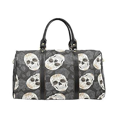 2572f295fc8d Leaves Sugar Skull Travel Duffel Bag Waterproof Weekend Bag Luggage with  Strap hot sale 2017