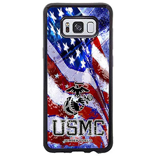 FIDIKO USMC US Marine Corps Semper Fidelis Phone case Compatible Samsung Galaxy s8 Plus, Luxury Statue of Liberty Hard Plastic Durable | Ultra Thin Phone Shell Compatible Galaxy s8 Plus ()