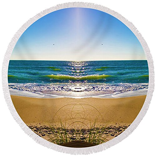 Pixels Round Beach Towel With Tassels featuring ''Enchanted Mirror'' by Betsy Knapp by Pixels