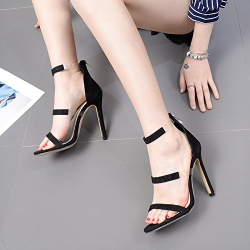 RUGAI sandali alto col dita e sandali e americane scarpe UE tacco black Sandali europee donna da rwqgUrH6