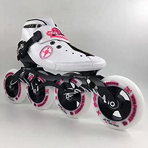 JieKeHaiDao Professional Carbon Inline Speed Skate for Men and Woman and kids - Professional Roller Skating