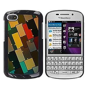 Modelo colorido - Metal de aluminio y de plástico duro Caja del teléfono - Negro - BlackBerry Q10