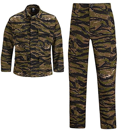 Vietnam Tiger Stripe Propper BDU Shirt and Pants Bundle (Large Regular Shirt w Medium Long Pants)
