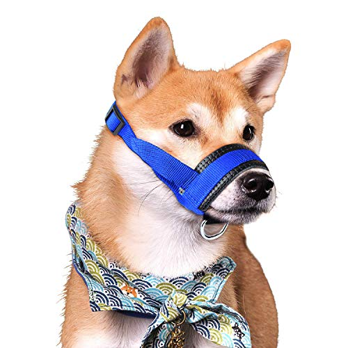 (Dog Muzzle for Large Dogs Prevent from Biting,Barking and Chewing,Adjustable Loop (B-L))