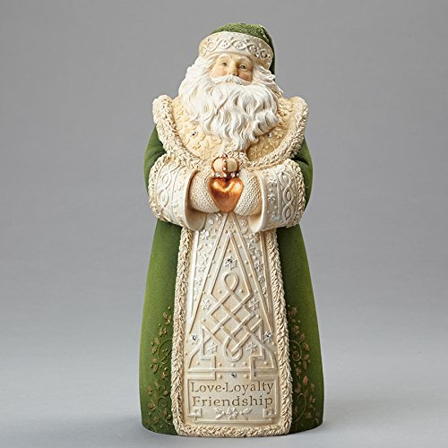 Enesco Heart of Christmas Irish Santa Figurine