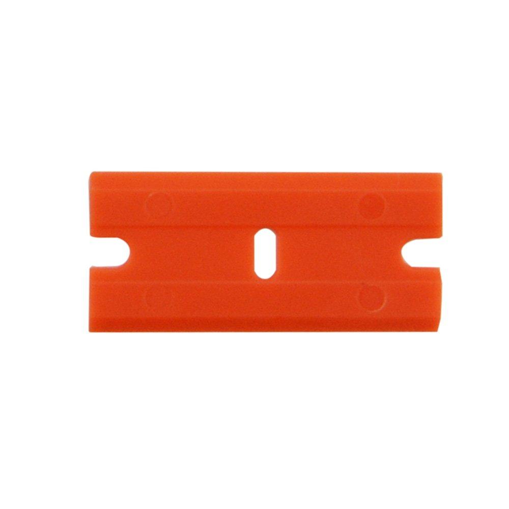 FOSHIO 200Pcs 1.5'' Plastic Razor Blades for Safety Titan Scraper, Double Edged Plastic Scraper Blades Remove Decals/Stickers/Adhesive Label/Clean Glass by FOSHIO (Image #3)