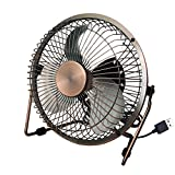 KTYX Copper-plated Small Fan Mini Desktop Office Desktop Portable USB Fan fan