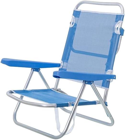 Monty LOLAhome Silla con Brazos para Playa Pop de Aluminio Azul ...