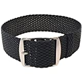 Wrist And Style Perlon Watch Strap ? Black | 22mm
