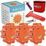 MARCALA LED Road Flares Emergency Lights | 3-Pack