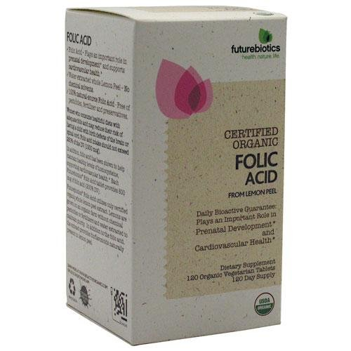 Acide folique Futurebiotics Veg-comprimés, 120-Comte