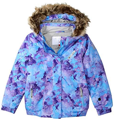 Spyder Girls' Bitsy Lola Ski Jacket, Stargazer Blue Ice Print/Blue Ice, Size 6
