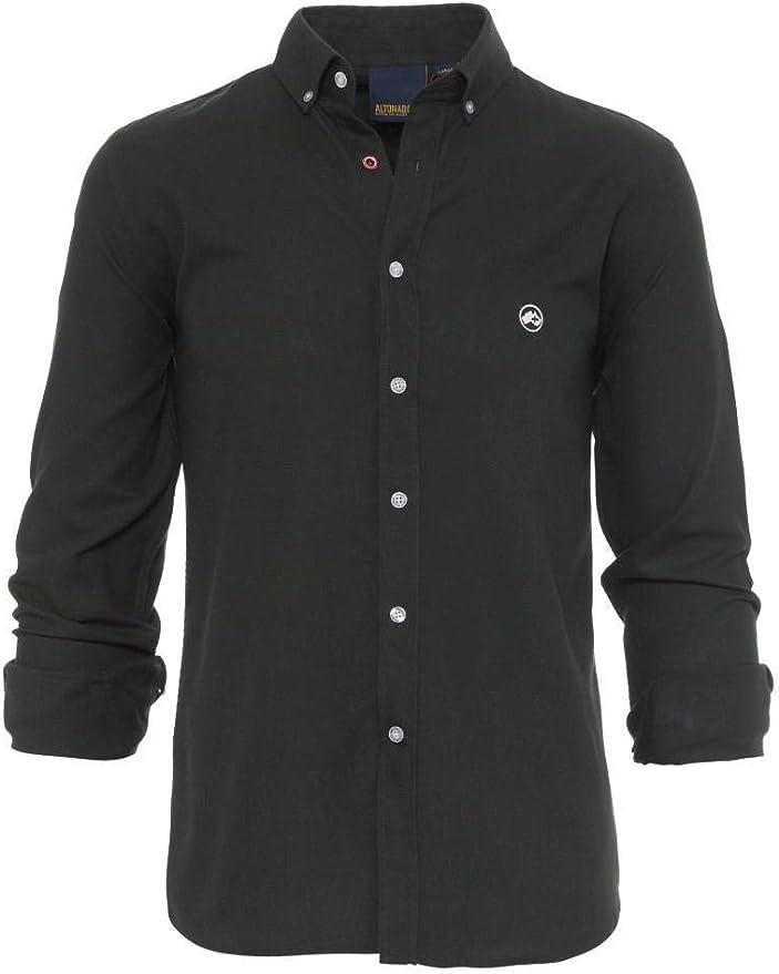 ALTONADOCK Camisa Verde para Hombre